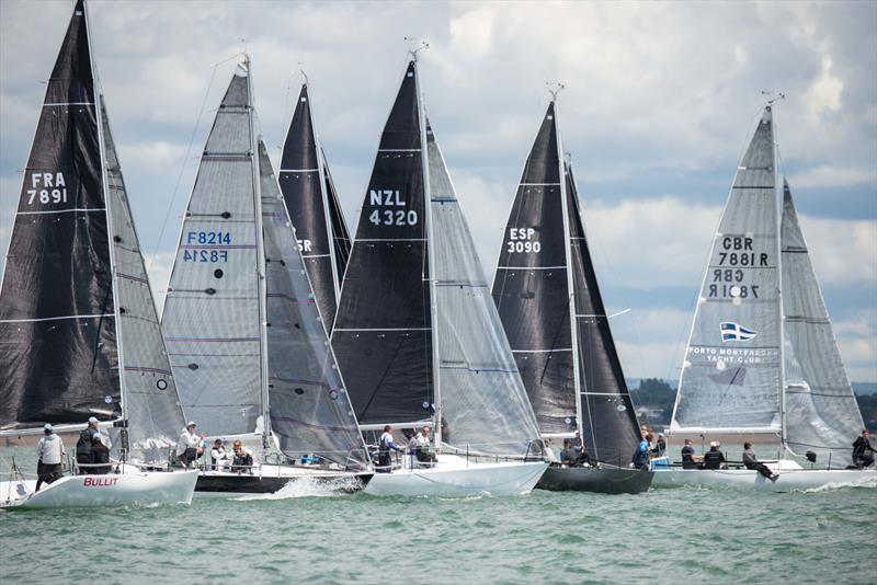 The fleet line up for the start of race 5 on day 2 of the Quarter Ton Cup - photo © Waterline Media