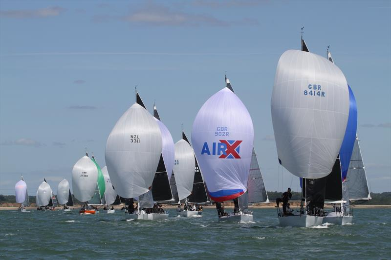 The spectacular sight of the Quarter Ton Cup fleet - photo © Fiona Brown
