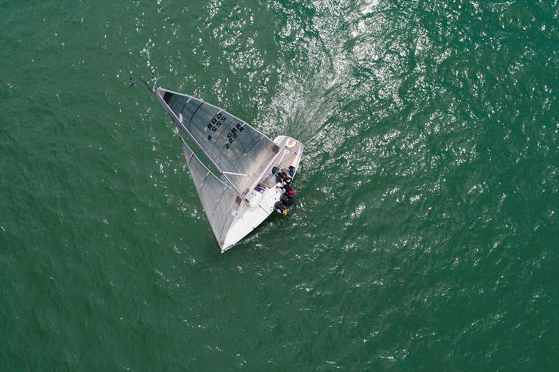 Ariel shot of Niall Dowlings Per Elisa competing in the Quarter Ton Cup - photo © Waterline Media