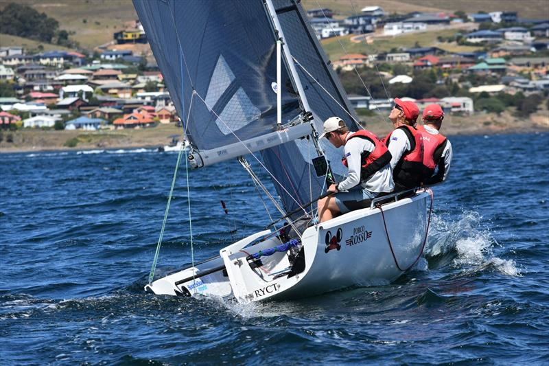 racegeek D10 in use during the SB20 Worlds 2018 in Tasmania photo copyright racegeek taken at  and featuring the  class