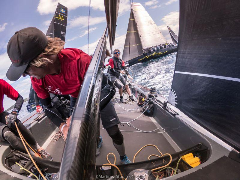 In the thick of the action aboard race leader Team CEEREF - Day 2, Adris 44Cup Rovinj - photo © MartinezStudio.es