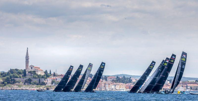 The nine boat fleet lines up off Rovinj's old town - Day 2, Adris 44Cup Rovinj - photo © MartinezStudio.es
