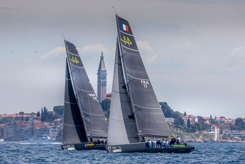 Aleph Racing shows Peninsula Petroleum the way upwind - Adris 44Cup Rovinj, Day 3 - photo © MartinezStudio.es