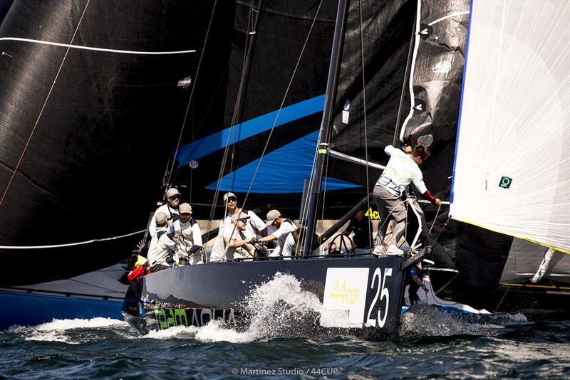 Chris Bake's Team Aqua is back with the 44Cup leaders' 'golden wheels' for Cascais. - photo © Pedro Martinez / Martinez Studio