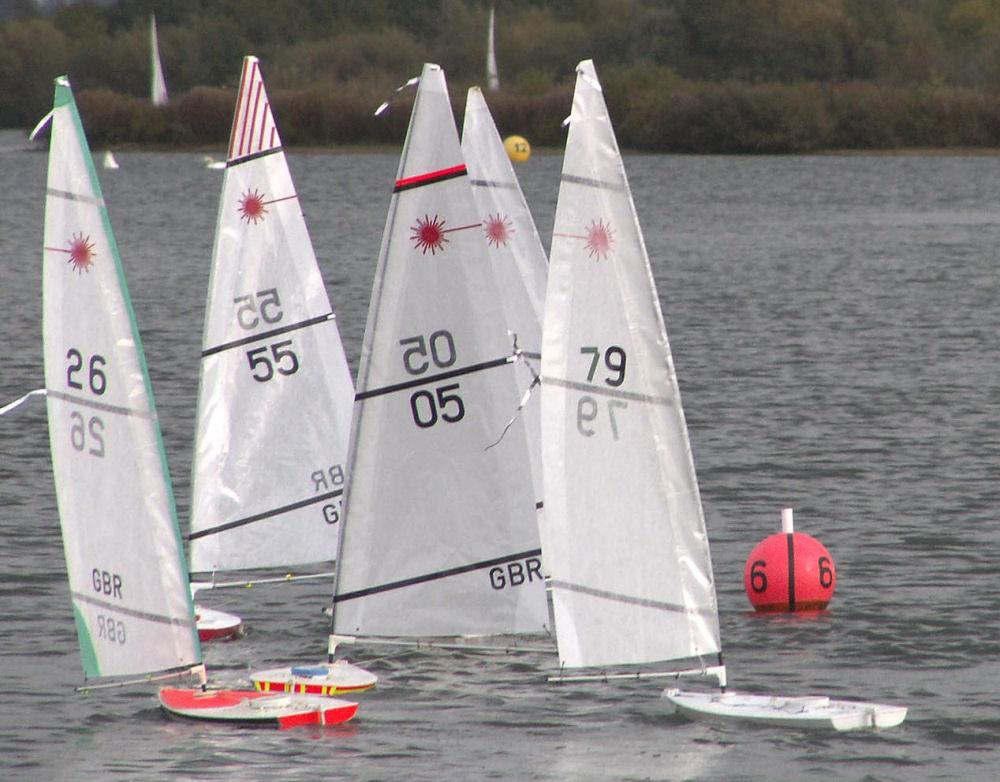 Rc Laser Series Round 8 At Burghfield Sailing Club