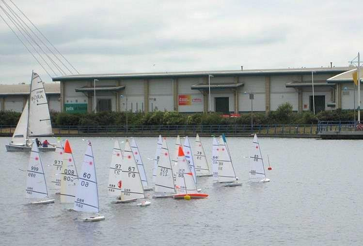 RC Laser National Championships at West Lancs - photo © Dave Fowler
