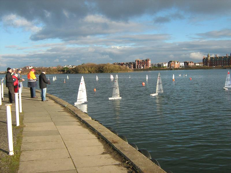 West Lancs RC Laser and DF65 Winter Series Round 3 photo copyright Tony Wilson taken at West Lancashire Yacht Club and featuring the RC Laser class
