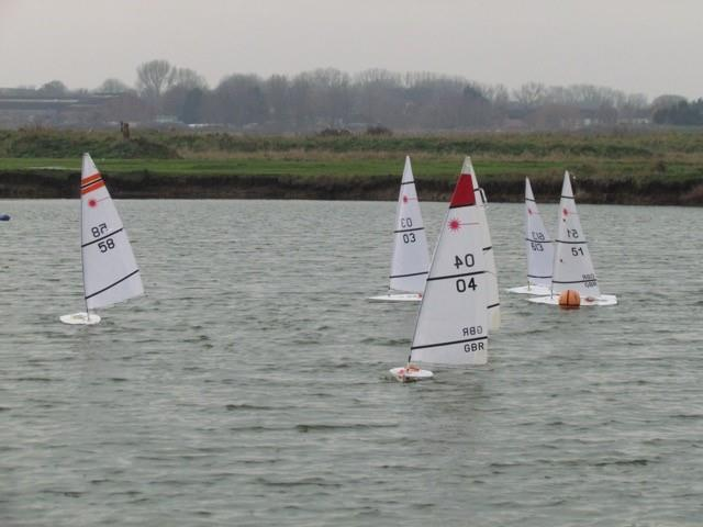 RC Laser Winter Series event 4 at Medway - photo © Tim Townsend