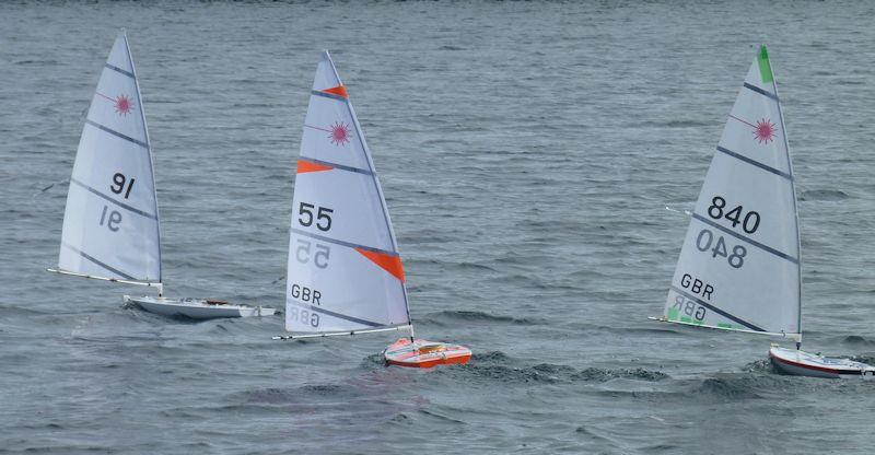 Shaun Holbeche (91), Hugo Chandor (55) and David Fowler (840) in the RC Laser Northern District Championship - photo © Rob Wheeler