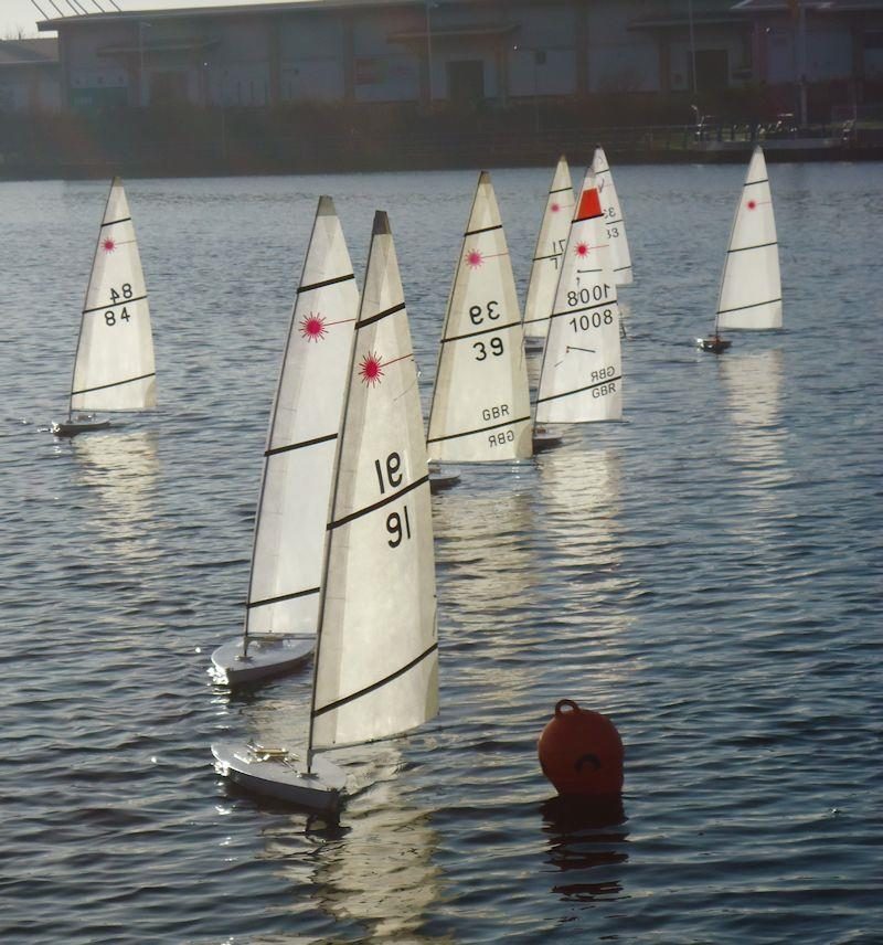 RC Laser Winter Series event 2 at West Lancs photo copyright Tony Wilson taken at West Lancashire Yacht Club and featuring the RC Laser class