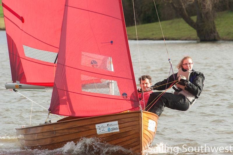 Eric Evans and Karen Raymont in the Sutton Bingham Icicle - part of the Sailing Southwest Winter Series - photo © Lottie Miles