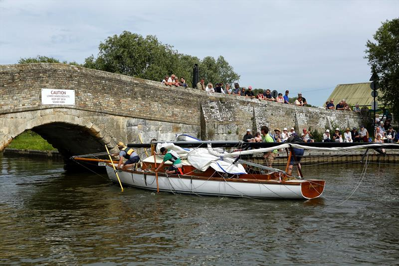 Going under Potter Heigham Bridge during the Three Rivers Race 2019 - photo © Jane Bowden