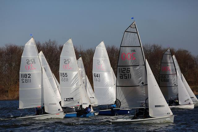 The ever-competitive RS200s on day 8 of the Alton Water Frostbite Series - photo © Tim Bees