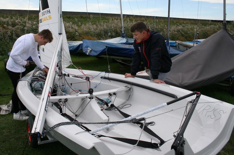 Rhys Lewis and Drew Wright looking forward a good breeze on the Endeavour Trophy training day - photo © Sue Pelling