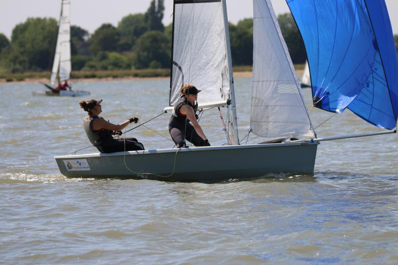 Rebecca Bines & Connie Hughes in action at Learning & Skills Solutions Pyefleet Week - photo © William Stacey