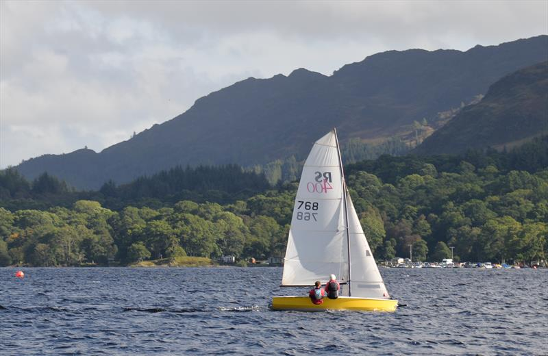 Angus Marshall & Imogen Barnett during the RS400 Scottish Travellers event at Loch Earn - photo © Colin Tait