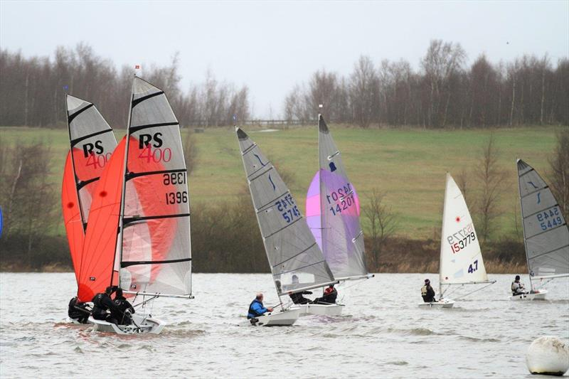 Leigh & Lowton SC New Year's Day Pursuit photo copyright Tim Yeates taken at Leigh & Lowton Sailing Club and featuring the RS400 class