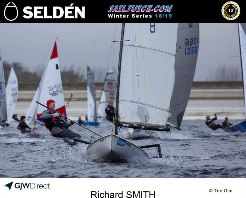Richard Smith reefed during the Datchet Flyer - Selden SailJuice Winter Series Round 2 - photo © Tim Olin / www.olinphoto.co.uk