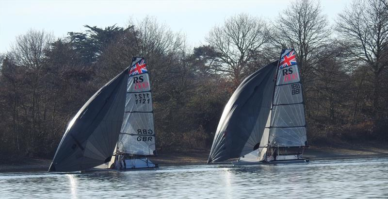 Duelling RS800s on week 5 of the Alton Water Fox's Chandlery Frostbite Series - photo © Emer Berry