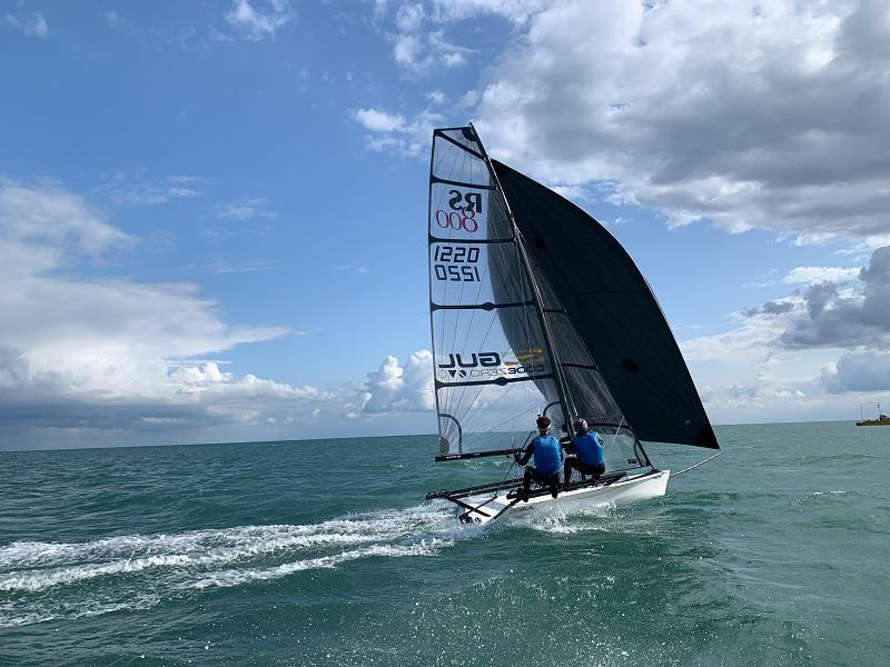 Day 3, Luke and Emma McEwen - Volvo Noble Marine RS800 Nationals - photo © Eastbourne Sovereign Sailing Club