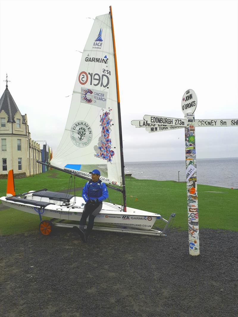 Team Race to Scotland at John O'Groats photo copyright Race to Scotland taken at  and featuring the RS Aero class