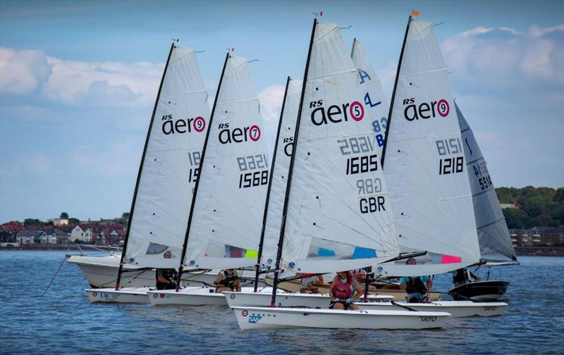 A strong showing of RS Aeros in the Medium Handicap fleet during the West Kirby Sailing Club Regatta - photo © Alan Jenkins & Alan Dransfield