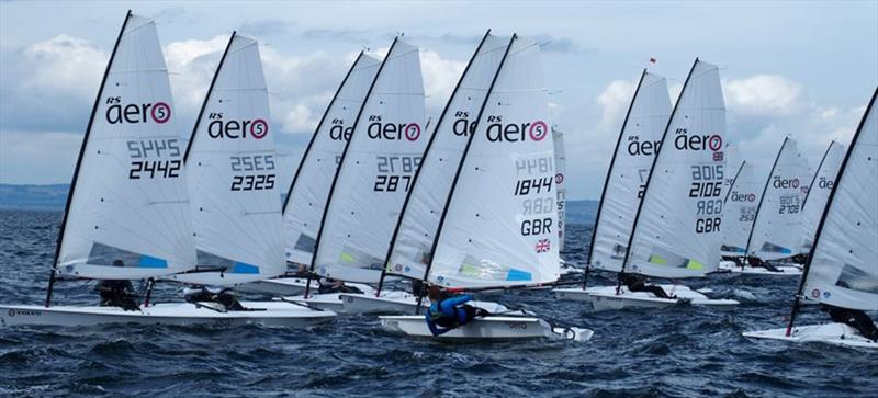RS Aero UK National Championships and International Open at East Lothian photo copyright Derek Braid taken at East Lothian Yacht Club and featuring the RS Aero class