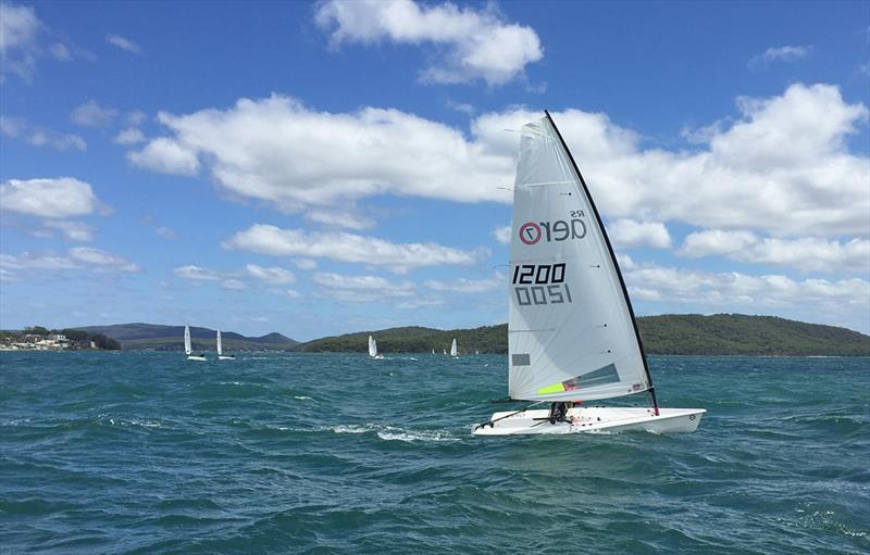 Rhett Gowans - RS Aero National Championship 2018 at Port Stephens photo copyright Sailing Raceboats taken at Port Stephens Sailing and Aquatic Club and featuring the RS Aero class