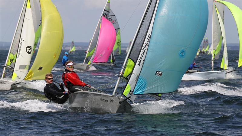 RS Feva sailing in Rooster Kit - photo © Peter Newton