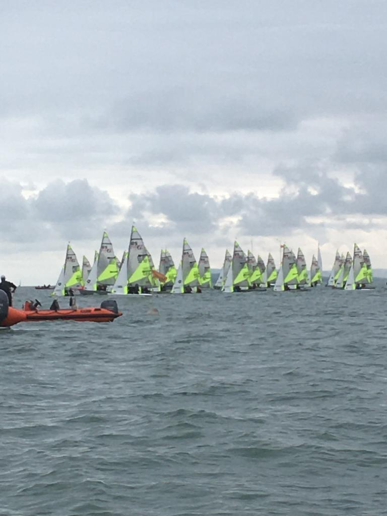 RS Feva Grand Prix 2 Round 2 at Hayling Island photo copyright Lucy Jameson taken at Hayling Island Sailing Club and featuring the RS Feva class
