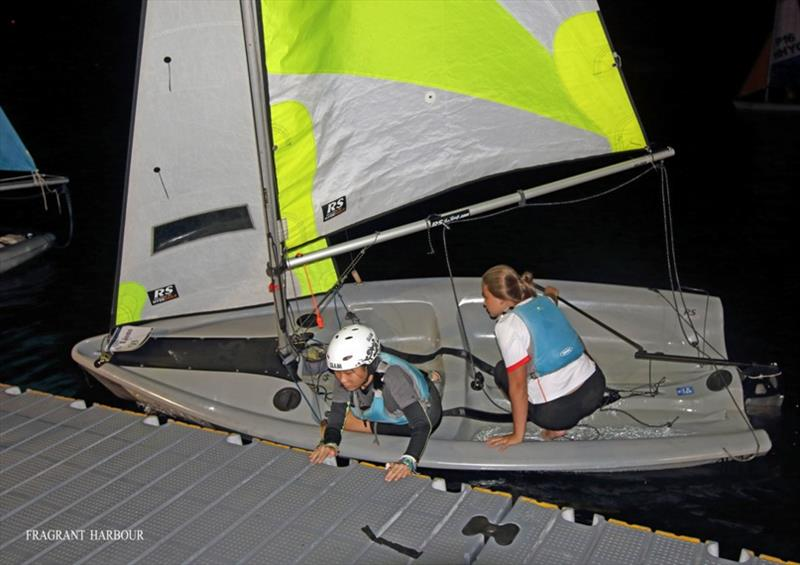 Lions make a crew change at night - 24 Hour Charity Dinghy Race - photo © Fragrant Harbour