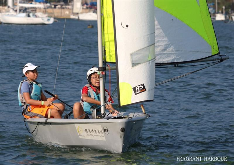 Young sailors participate - 24 Hour Charity Dinghy Race - photo © Fragrant Harbour