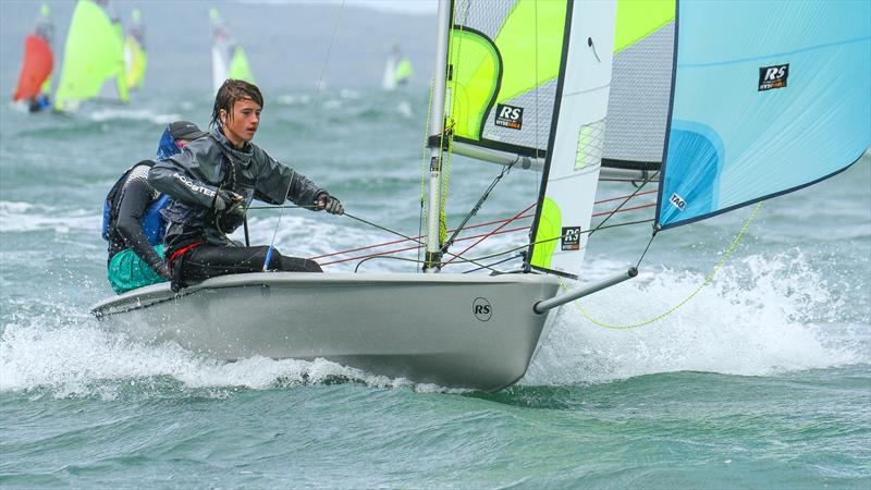 RS Feva offers a fast ride downwind - essential to keep young sailors in the sport - RS Feva Nationals, Torbay SC, March 2019 - photo © Richard Gladwell