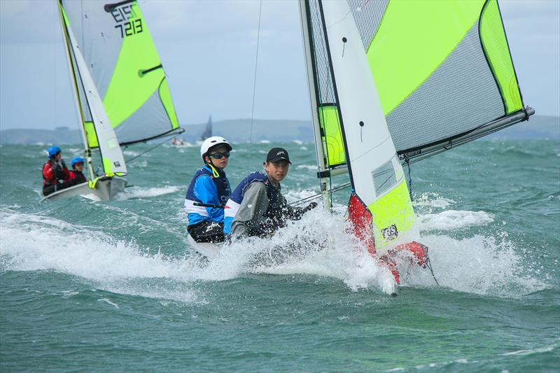 RS Feva holds up well in tough NZ conditions - RS Feva Nationals, Torbay SC, March 2019 - photo © Richard Gladwell