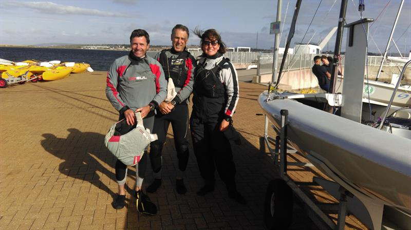 Dave, Ellie and Paul win the K6 Nationals at the WPNSA - photo © Heather Chipperfield