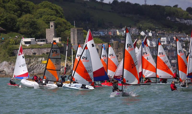 Racing in Dartmouth during the Optimum Time, RS Sailing Store Regatta on the final South West Youth Sailing Academy weekend - photo © Nicholas James