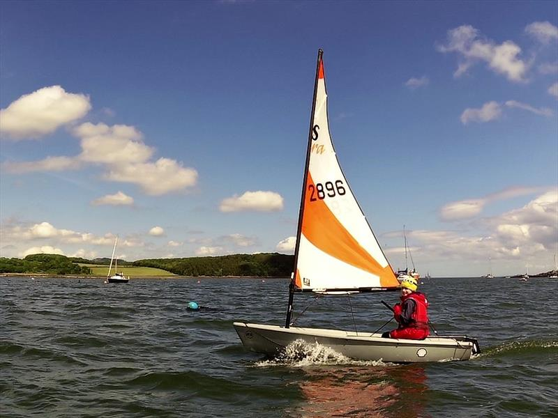 Matilda mastering the challenging conditions in her Tera during the Dalgety Bay Development Regatta - photo © Sarah Franklin