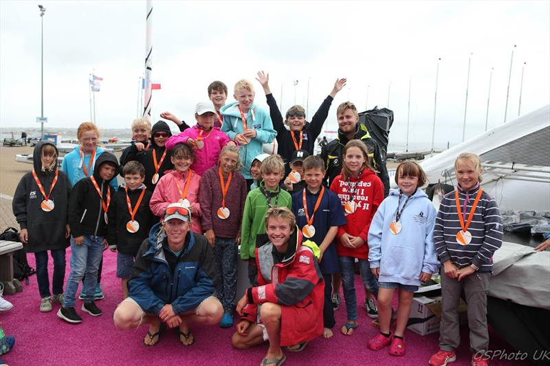 Regatta fleet with ASWC coaches at the RS Tera World Championships - photo © Giles Smith