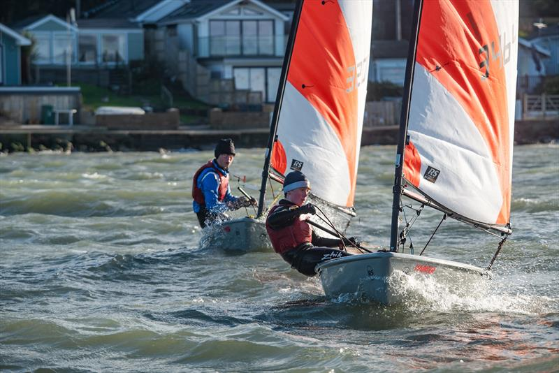 Killian Boag (2nd overall) leads Thomas Leather during the Isle of Wight Tera Championships - photo © Patrick Condy