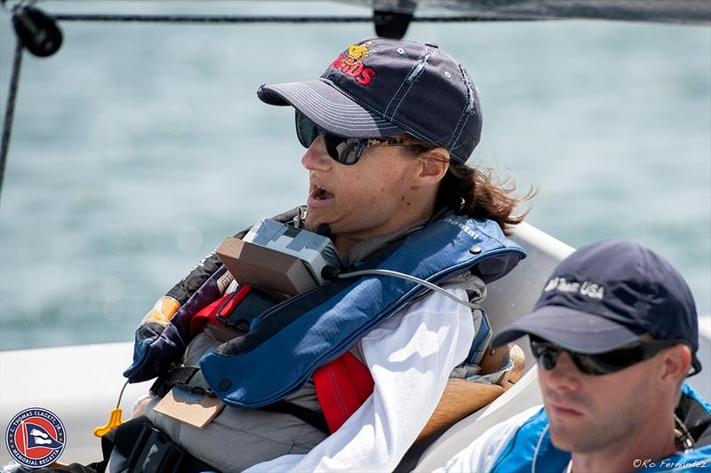 Christina Rubke and Kris Scheppe racing the RS Venture Connect day one of racing - 2018 Clagett Regatta and U.S. Para Sailing Championships - photo © Clagett Regatta-Ro Fernandez
