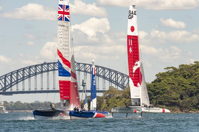 SailGP Practice race day. SailGP GBR Team and SailGP Japan Team. photo copyright  Chris Cameron / SailGP taken at  and featuring the  class