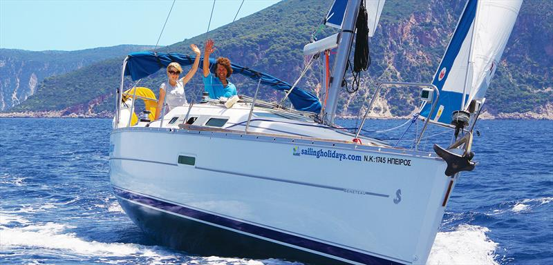 Couples sailing in the Mediterranean © Sailing Holidays