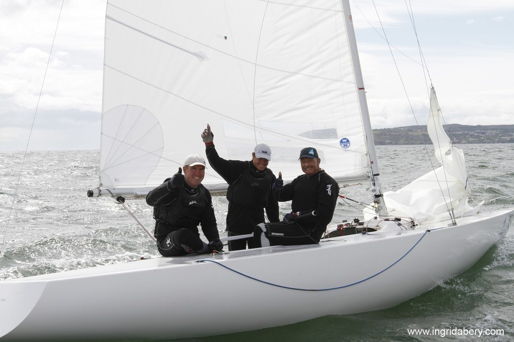 Palfrey, Slingsby and Bertrand - winning Etchells crew - photo © Ingrid Abery http://www.ingridabery.com