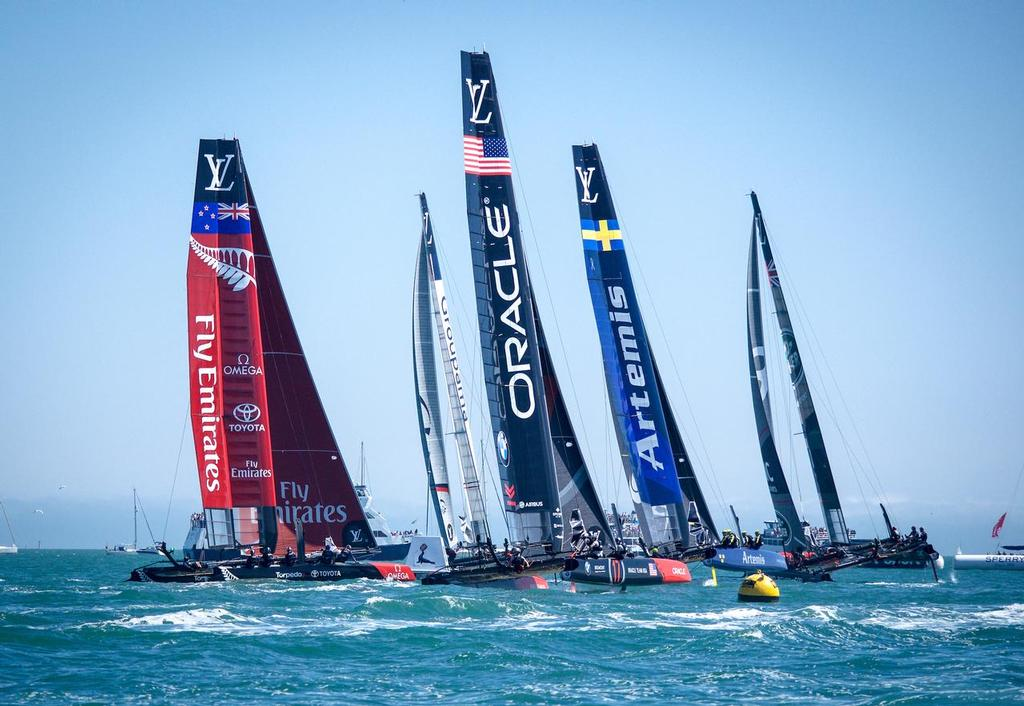 Start Louis Vuitton America's Cup World Series Portsmouth 2016 - photo © Emirates Team New Zealand http://www.etnzblog.com