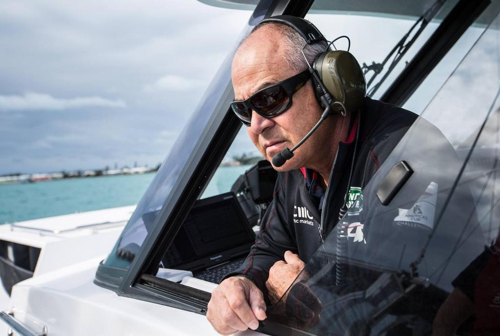 Structural Engineer Dirk Kramers - on the water in the 2017 America's Cup with Land Rover BAR A day in the Life of Land Rover BAR photo copyright Alex Palmer taken at  and featuring the  class