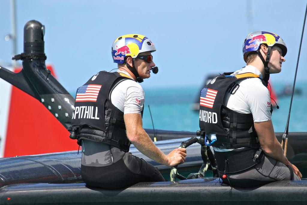 Race 10 - Jimmy Spithill and Wing sail Trimmer Kyle Langford in a reflective mood after their loss to Artemis Racing.  - 35th America's Cup - Bermuda  May 28, 2017 - photo © Richard Gladwell www.photosport.co.nz