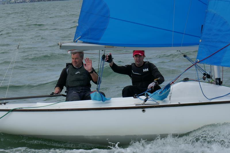 Peter Thompson and Mark Dell win the Sandhopper Nationals at Thorpe Bay - photo © Linda Snow