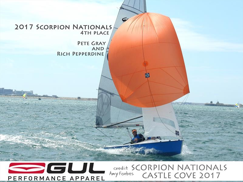 Pete Gray & Rich Pepperdine finish 4th in the Gul Scorpion Nationals at Castle Cove - photo © Amy Forbes