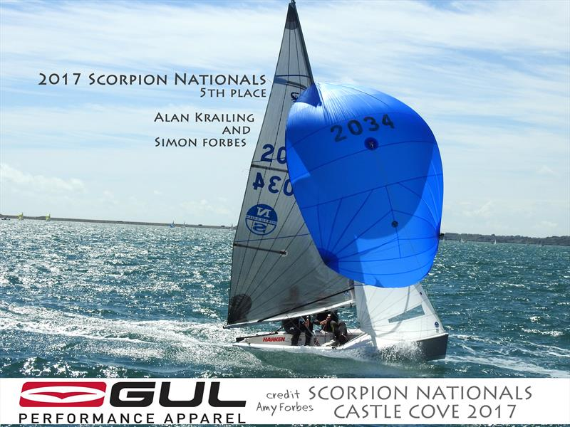 Alan Krailing & Simon Forbes finish 5th in the Gul Scorpion Nationals at Castle Cove - photo © Amy Forbes