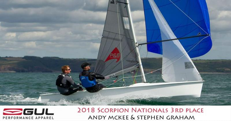 Andy McKee & Stephen Graham finish 3rd in the Gul Scorpion Nationals at Tenby - photo © Alistair Mackay